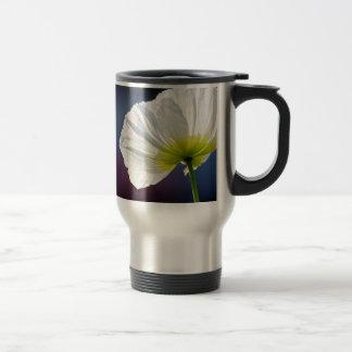 Light white flower mug