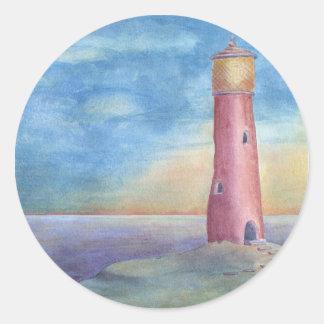 Lighthouse Runder Aufkleber