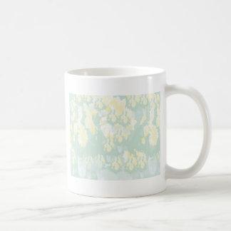 Lightshade Gelbgrün-Blumenschablone Tasse