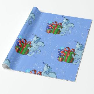 lil Drache-Schneeflocke Geschenkpapier