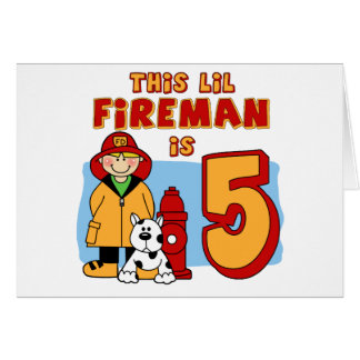 Lil Feuerwehrmann-5. Geburtstag Karte