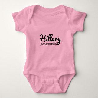 Lil Mädchen Hillary Cliton für Präsidenten Baby Strampler