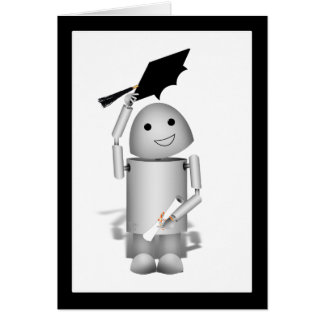 Lil Robox9 Absolvent - Kappen weg! Grußkarte