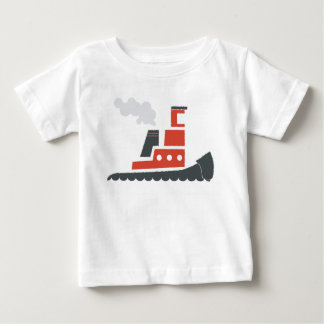 Lil rotes Schlepper-Baby-T-Stück Baby T-shirt