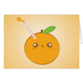 Lil' spritzen niedliches Baby-orange Karte