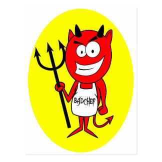 Lil Teufel Badchef Postkarte