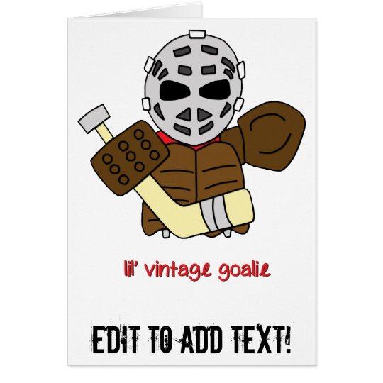 Lil Vintager HockeyGoalie Grußkarte