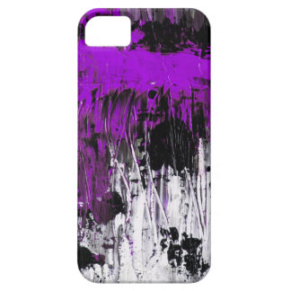 Lila abstract art painting phone case etui fürs iPhone 5