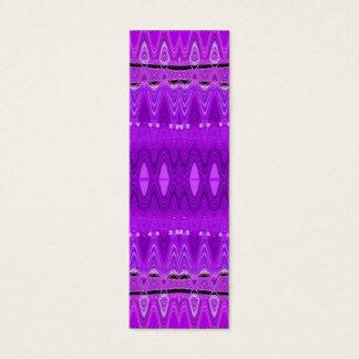 lila abstrakte Lesezeichen Mini Visitenkarte