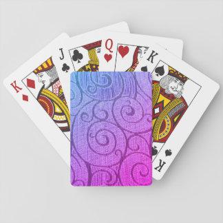 Lila abstrakte Spirale Spielkarten