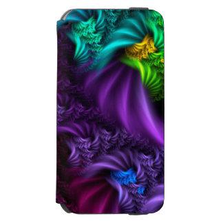 Lila abstrakter Fraktal-Kunst-Kasten Incipio Watson™ iPhone 6 Geldbörsen Hülle