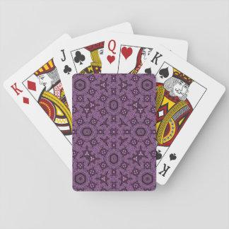 Lila abstraktes Muster Pokerkarte