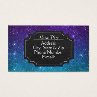 Lila Aqua-himmlische Tafel-Geschäfts-Karten Visitenkarte