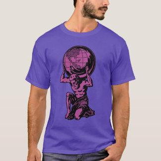 Lila Atlas-griechische Mythologie-T - Shirt