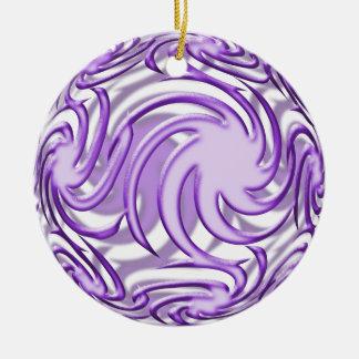 Lila Ball Rundes Keramik Ornament