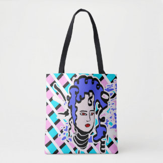 Lila behaarter Cartoon Tasche