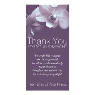 Lila Beileid der Orchideen-4b danken Ihnen Karte