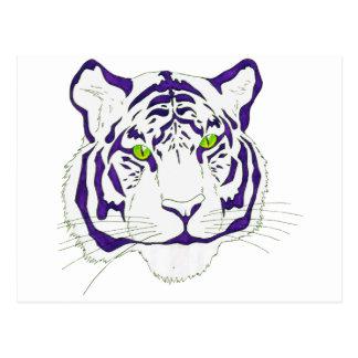 Lila bengalischer Tiger Postkarte