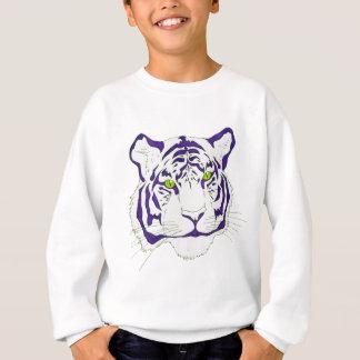 Lila bengalischer Tiger Sweatshirt
