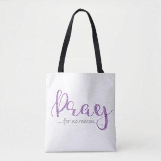 Lila beten Sie Tasche