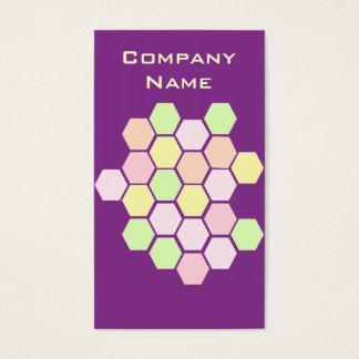 Lila Bienen-Bienenwaben-Hexagon Visitenkarte