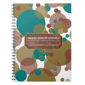 Lila Blasen-modernes Notizbuch blauen Browns Notizblock