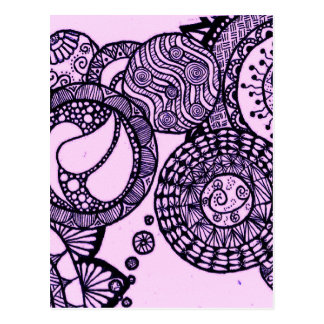Lila Blasen Postkarte