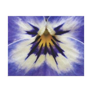Lila Blume des schönen Nahaufnahme-Fotos Leinwanddruck