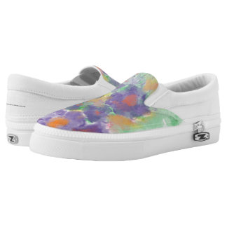 Lila Blume des Zipbeleg-einer Slip-On Sneaker