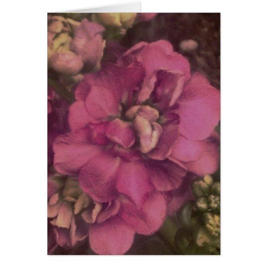 lila Blume mit Zitat vom Buch von Ruth-Karte Karte