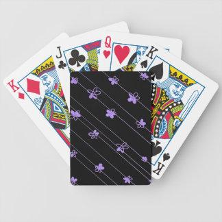 Lila Blumen Bicycle® Poker-Spielkarten Spielkarten