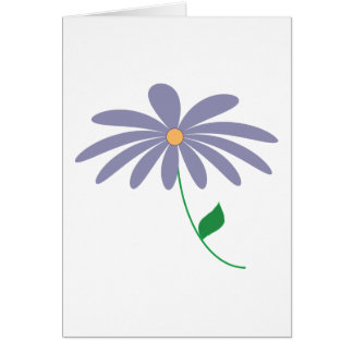 Lila Blumen-Cartoon des einfachen Entwurfs Karte