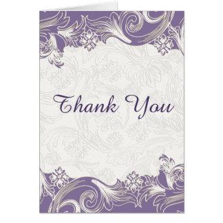 lila Blumen danken Ihnen Karte
