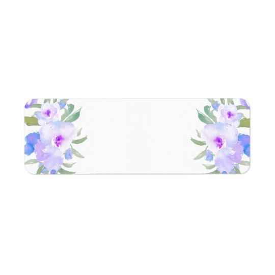 lila Blumen des Watercolor