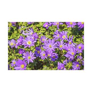 Lila Blumen-Leinwand Leinwanddruck