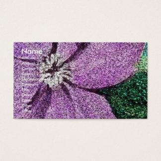 Lila Blumen-Mischmedium-Digital-Kunst Visitenkarte