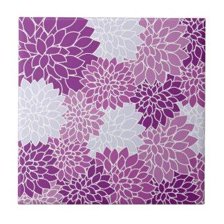 Lila Blumen-Muster Fliese