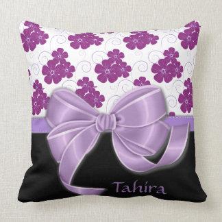 Lila Blumen-Muster-Lavendel-Band Kissen