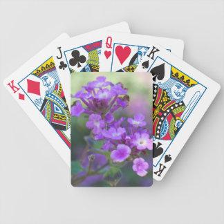 Lila Blumen Poker Karten