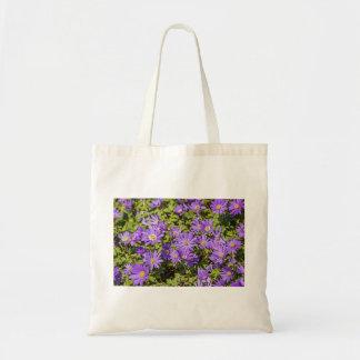 Lila Blumen-Tasche Tragetasche