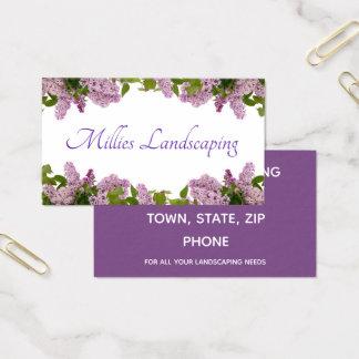 Lila Blumen Visitenkarte