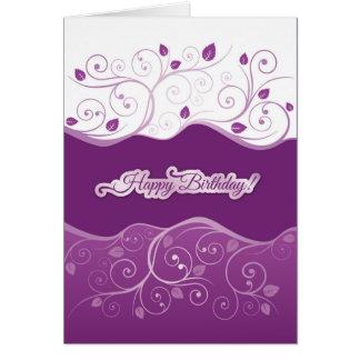 Lila Blumenalles Gute zum Geburtstagkarte des Karte