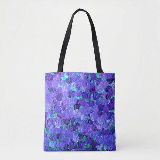 Lila Blumenblätter Tasche