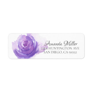 Lila BlumenRücksendeadresse