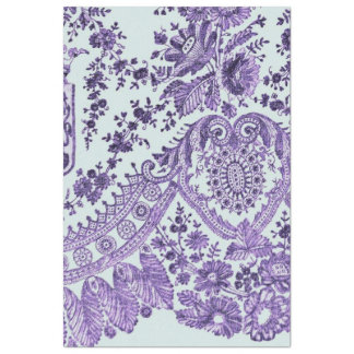 Lila Blumenspitze-Muster Seidenpapier