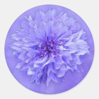 Lila BlumenUmschlag Aufkleber