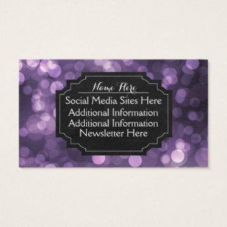 Lila Bokeh helle Tafel-Geschäfts-Karten Visitenkarte