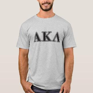 Lila Buchstaben Alphakappa-Lambdas T-Shirt