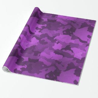 Lila Camouflage Geschenkpapier