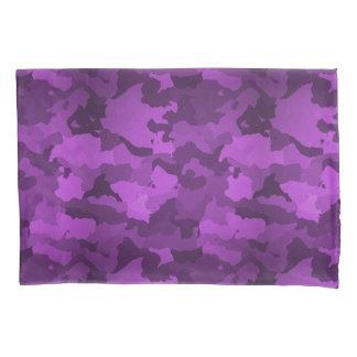 Lila Camouflage Kissen Bezug